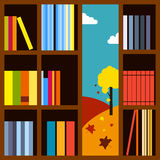 Bookcase Vector illustration Stock Image
