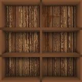 Bookcase. Vector illustration with  empty bookshelves Stock Photo