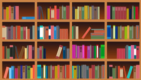 Bookcase vector illustration Royalty Free Stock Photography
