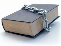 Bookchain royalty free stock images
