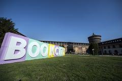 BOOKCITY MILANO, Castello Sforzesco, Italia fotografía de archivo libre de regalías