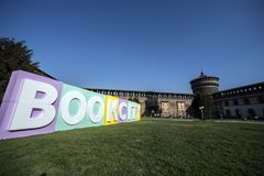 BOOKCITY MILANO, Castello Sforzesco, Italy royalty free stock photography