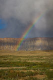 Bookcliffs Rainbow. Rainbow developed over the bookcliffs of grand Junction, colorado royalty free stock photography