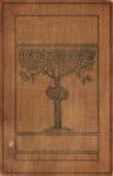 Bookcover de la vendimia con el árbol Fotografía de archivo libre de regalías