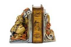 Bookend with a bust of the writer Royalty Free Stock Photography