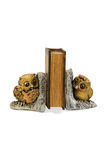 Bookend in the form of two owls Royalty Free Stock Image