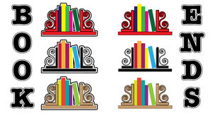 Bookend icons Stock Photos