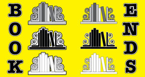 Bookend icons Royalty Free Stock Photo