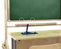 Bookend on the school table Royalty Free Stock Photos