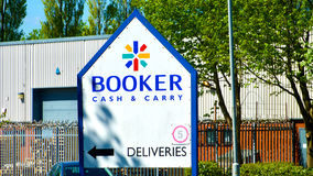 Booker Cash en draagt teken, royalty-vrije stock afbeeldingen