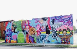 Booker T Washington High School Mural Fotografie Stock