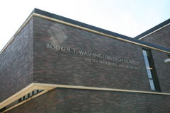 Booker T Washington Performing Arts School imagem de stock