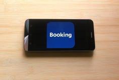 booking Com app royalty-vrije stock foto's