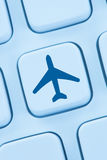 Booking flight holidays vacation online shopping e-commerce inte Stock Images