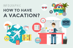 Booking Hotel. Travel infographic. Loupe, Building Royalty Free Stock Image