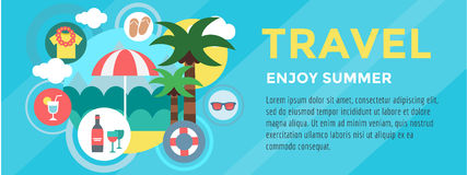 Booking Hotel. Travel infographic. Loupe, Building Royalty Free Stock Photo