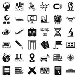 Booking icons set, simple style. Booking icons set. Simple style of 36 booking vector icons for web isolated on white background Royalty Free Stock Photography
