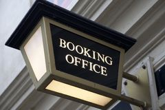 Booking Office Sign Royalty Free Stock Images