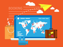 Booking online Stock Images
