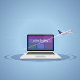 Booking online. Travel Royalty Free Stock Photos