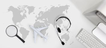 Booking and search flight ticket air travel trip vacation concep. T, banner web template Stock Image