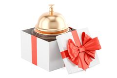 Booking service in gift concept. 3D rendering. Isolated on white background Stock Photo