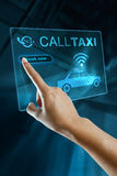 Booking Taxi On a digital screen Royalty Free Stock Photography