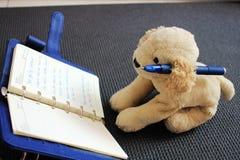 Bookish dog Stock Images