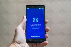 bookishly com-applikation royaltyfria foton