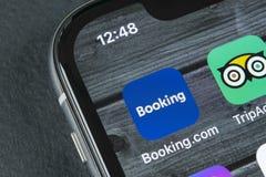 bookishly com-applikationsymbol på närbild för skärm för Apple iPhone X Bokningapp-symbol bookishly com är online-websiten samla  arkivfoto