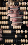 The bookkeeper and abacus Royalty Free Stock Photo