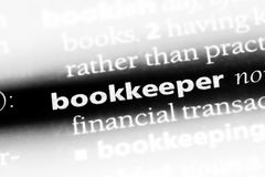 Bookkeeper. Word in a dictionary.  concept royalty free stock photos