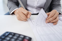Bookkeeper at work Stock Photography