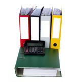 Bookkeeping documents Royalty Free Stock Image