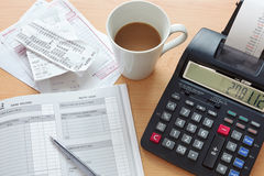 Bookkeeping sales ledger stock images
