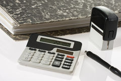 Bookkeeping tools Stock Image