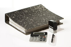 Bookkeeping tools Stock Photos