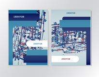 Booklet brochure flyer design Stock Photography