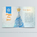 Booklet with Christmas Tree From Snowflakes Stock Photography