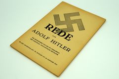 Booklet containing a speech given bij Adolf Hitler Stock Image
