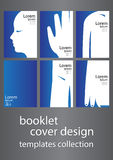 Booklet cover design Stock Image