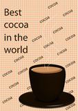 The booklet with the image of cocoa Stock Photos