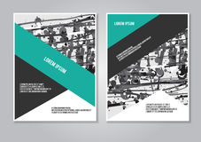 Booklet layout creative template Stock Photos