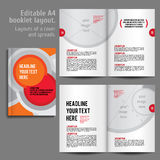 A4 booklet Layout Design Template with Cover Stock Images