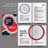 A4 booklet Layout Design Template with Cover Royalty Free Stock Images
