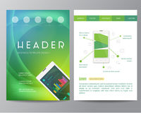 Booklet, magazine poster, flyer, abstract banner Stock Images