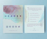 Booklet, magazine poster, flyer, abstract banner Royalty Free Stock Photo