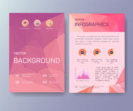 Booklet, magazine poster, flyer, abstract banner Stock Photography