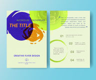 Booklet, magazine poster, flyer, abstract banner Stock Photo