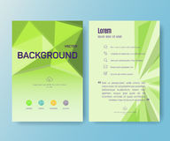Booklet, magazine poster, flyer, abstract banner Stock Image